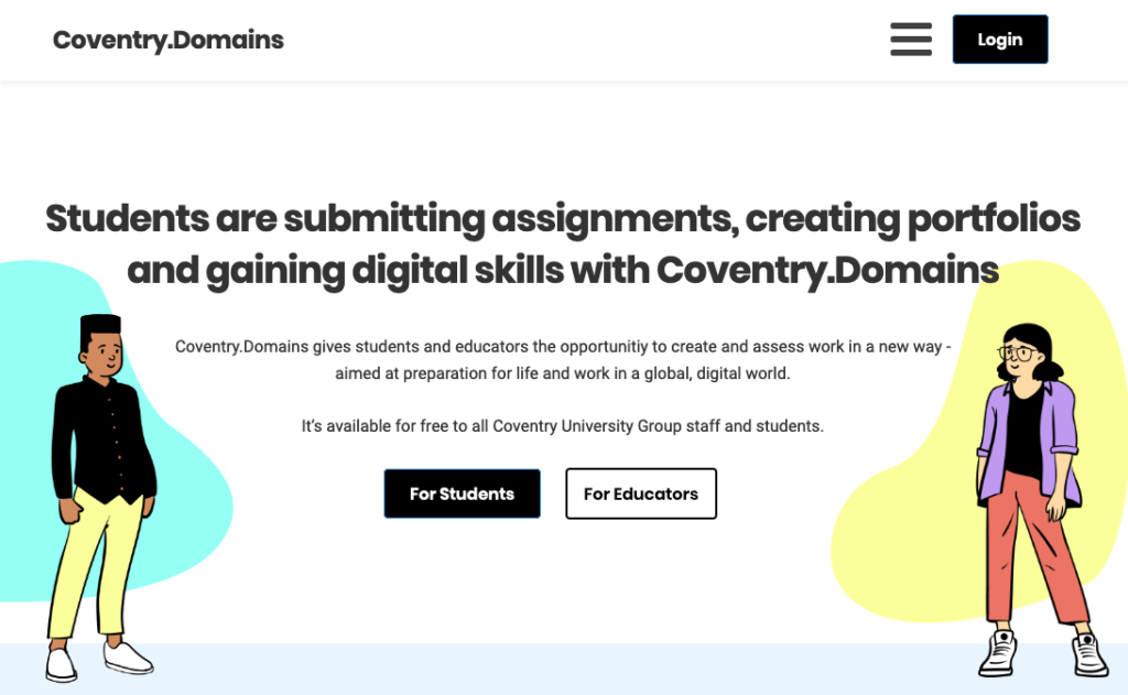 Coventry Domains Homepage Screenshot